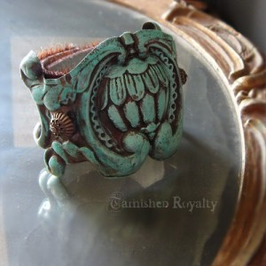 Turquoise & Cowhide Cuff Bracelet
