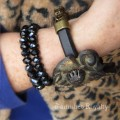 Hardware and Leather Bracelet