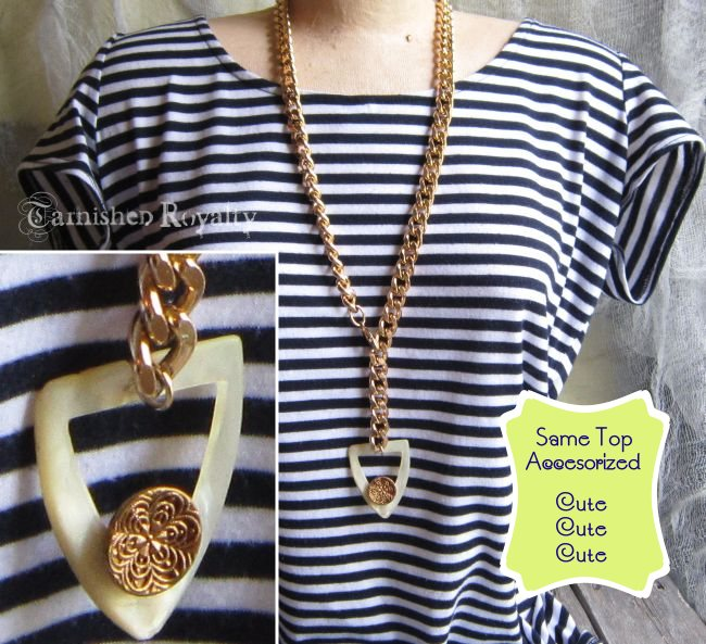 necklace chunky gold chain buckle 1