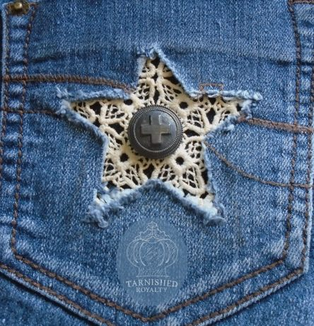 lace jeans pocket